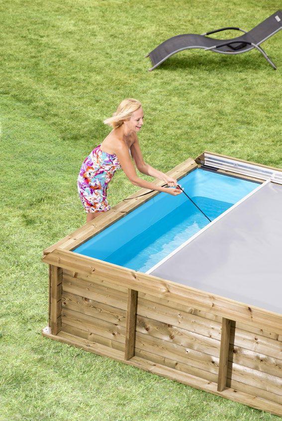 Piscineitalia piscina fuori terra in legno rettangolare for Piscina cuadrada 2x2