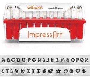 Slagletters Geisha, luxe, Hoofdletters #ImpressArt