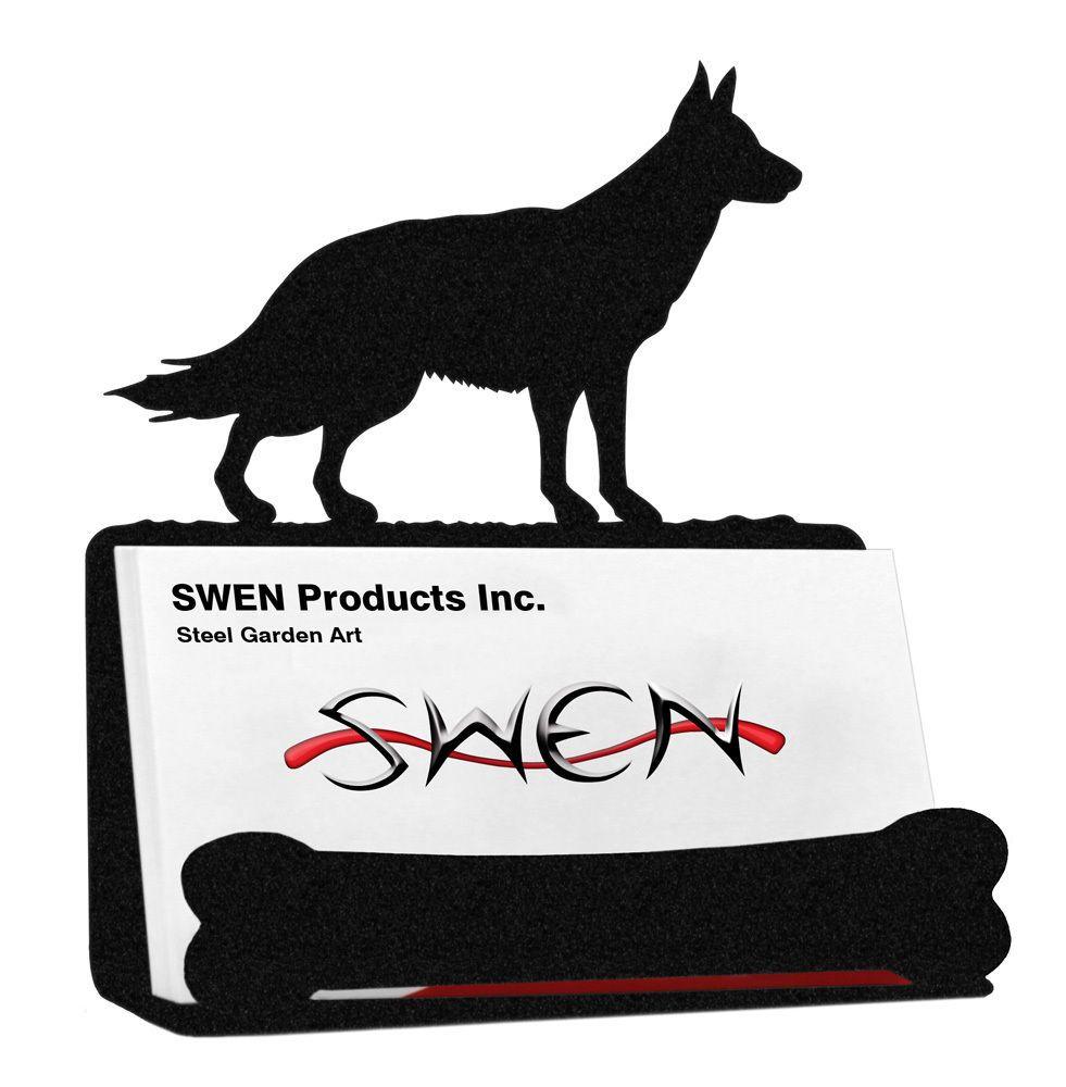 Details about german shepherd dog black metal business card holder details about german shepherd dog black metal business card holder colourmoves Images