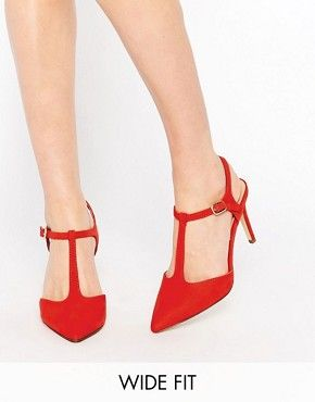 New Look Pointed T Bar Court Shoe