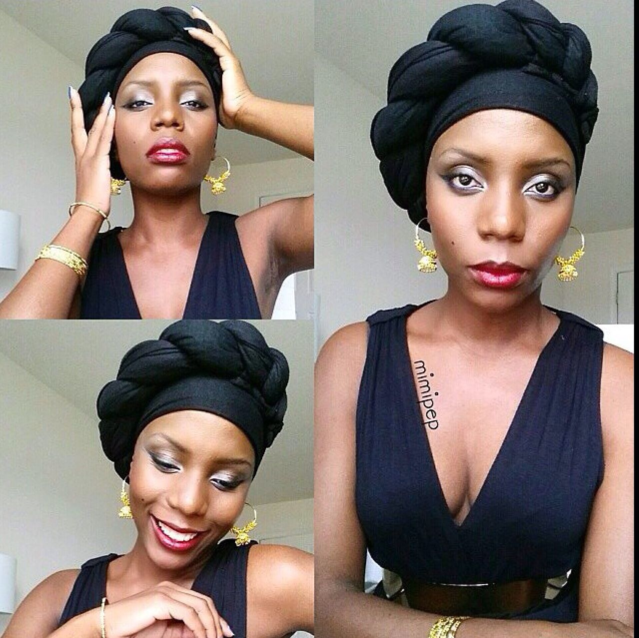 Head Wrap Styles For Natural Hair Head Wrapnatural Hairfashion Natural Hair Style Braids