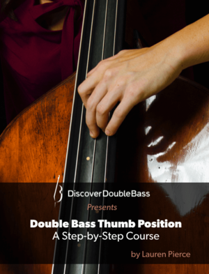 Double bass thumb position — pic 2