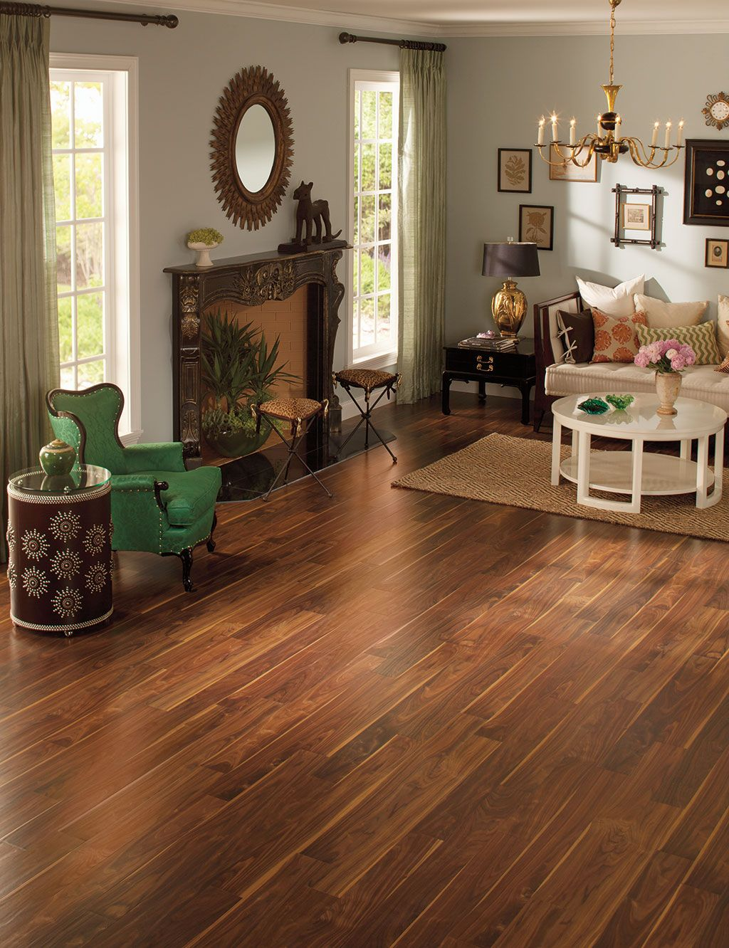 How to choose the ideal living room floor in 2020 Walnut