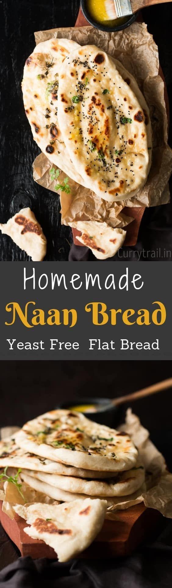 Homemade Naan Recipe Without Yeast | Recipe | Naan recipe ...