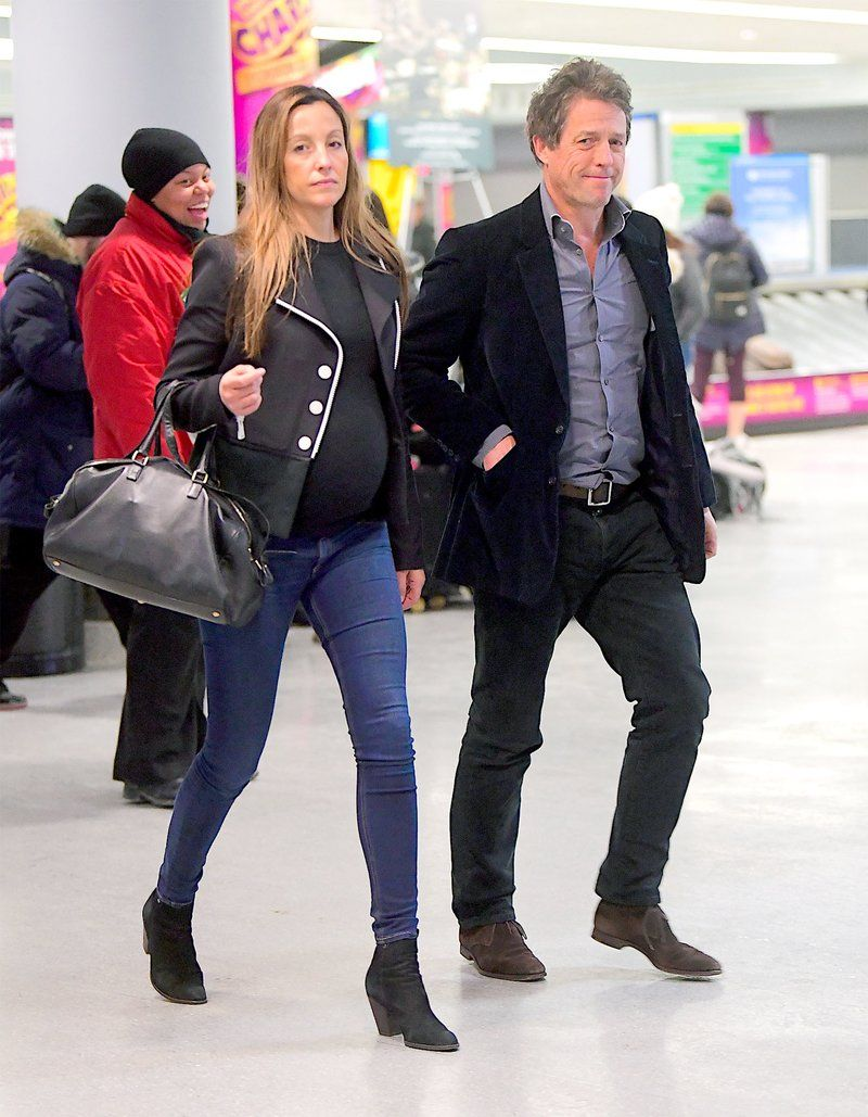 Fifth Child On The Way For Hugh Grant See Girlfriend Anna Eberstein S Adorable Baby Bump Hugh Grant Hugh Grant Children Expecting Baby