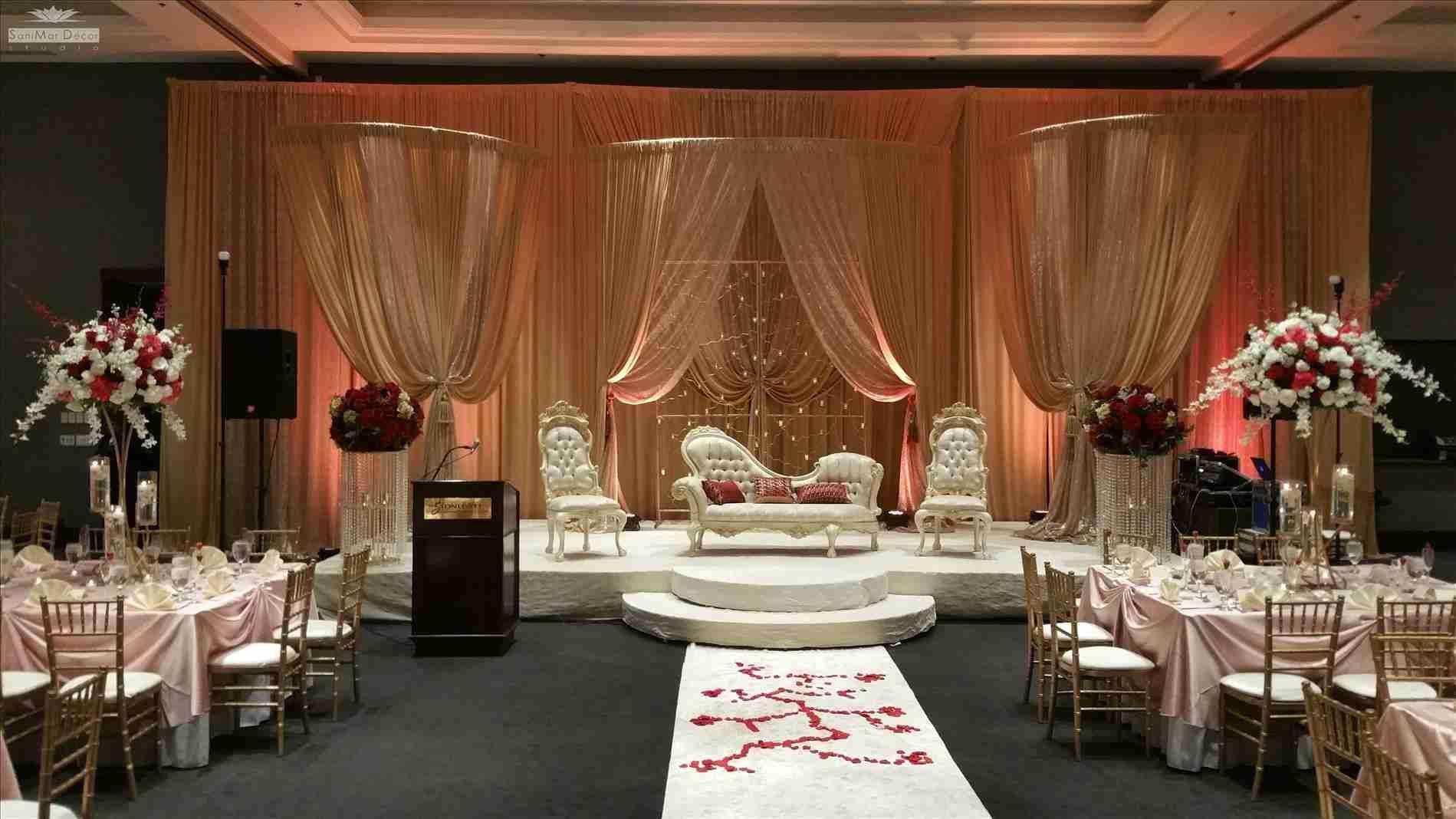 Rustic Wedding Stage Decoration