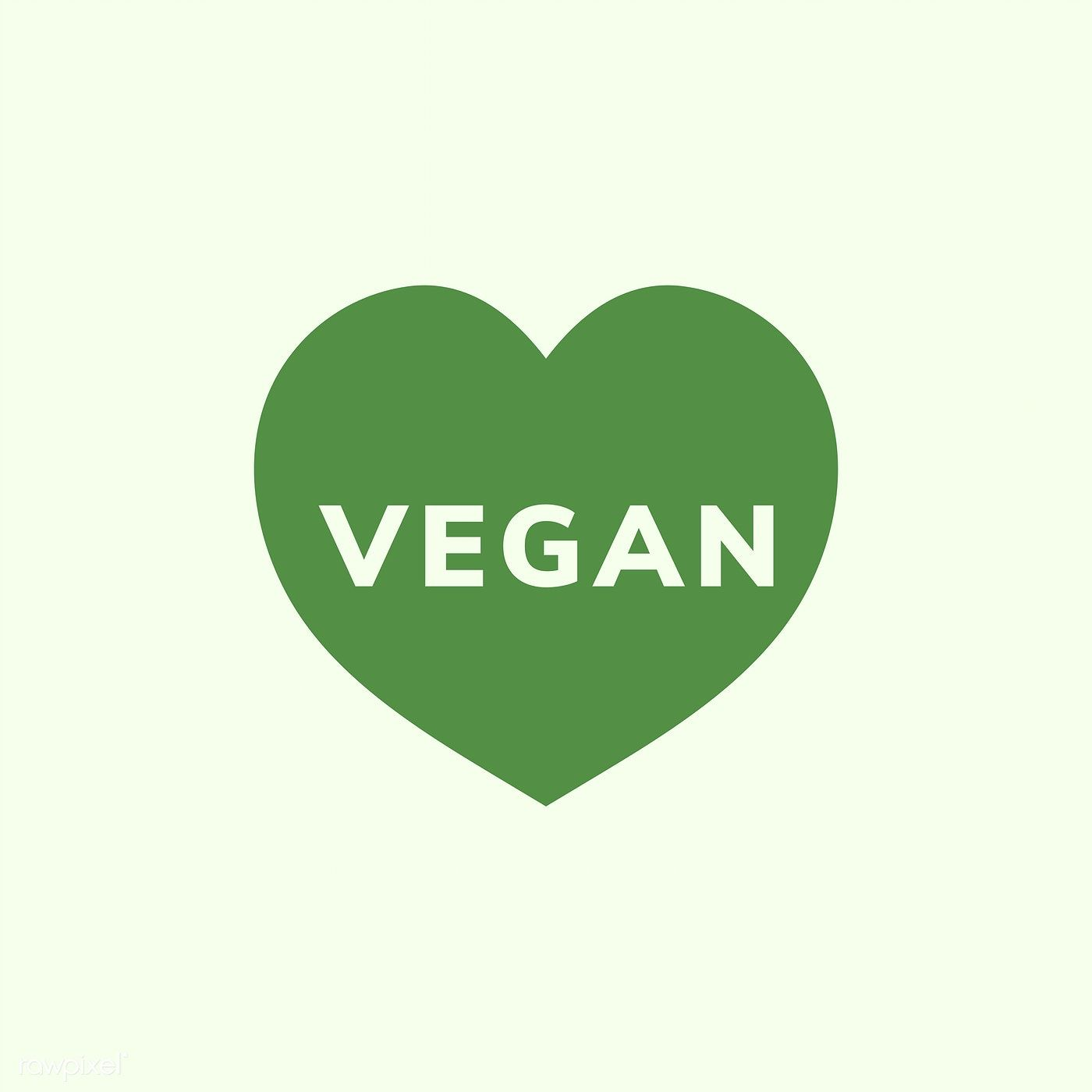 The word vegan in a heart shape vector free image by