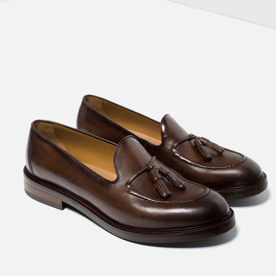 2fcca84591d Image 3 of LEATHER LOAFERS WITH TASSELS from Zara Leather Loafers