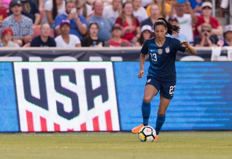 Christen Press 2018 Ton Roster Uswnt Uswnt Soccer Female Football Player Uswnt