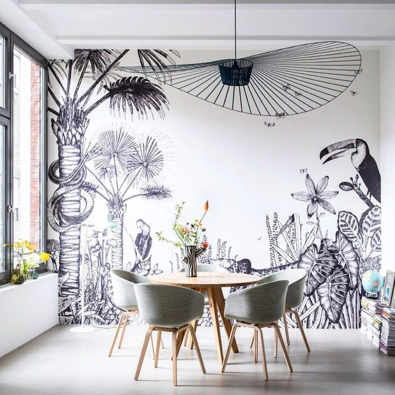 Choosing Wall Murals For Your Interior Wall Murals Modern Dining Room Wall Decor