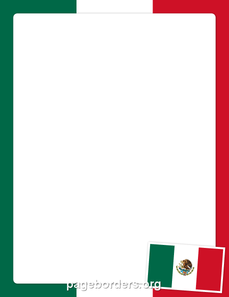 printable mexican flag border use the border in microsoft word or rh pinterest nz