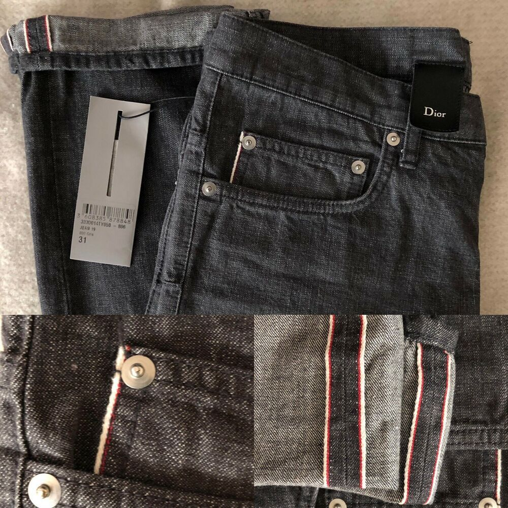 14a6d1ae Dior Homme Mens Selvedge Made In Japan Grey Denim Jeans | Mens ...