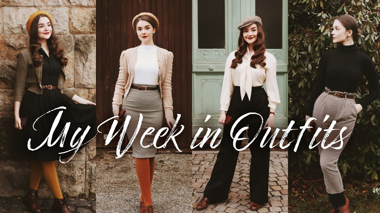 My Week In Outfits 2 Vintage Fashion Inspo Youtube In 2020 Fashion Retro Fashion Vintage Vintage Fashion
