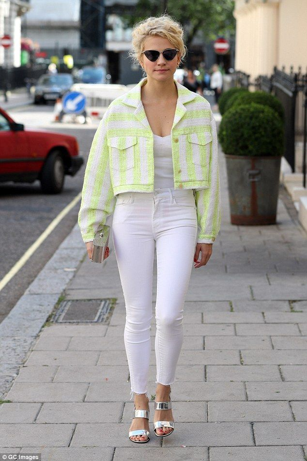 4aa72d43e8db Look at me  Pixie Lott stepped out in another quirky fashion statement on  Wednesday aftern.