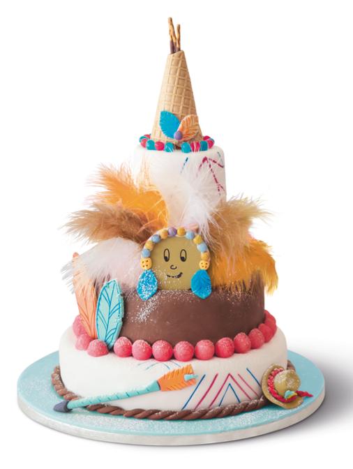 Le g teau tipi anniversaire indien pate a sucre pinterest les gateaux indiens et - Decoration gateau anniversaire enfant ...