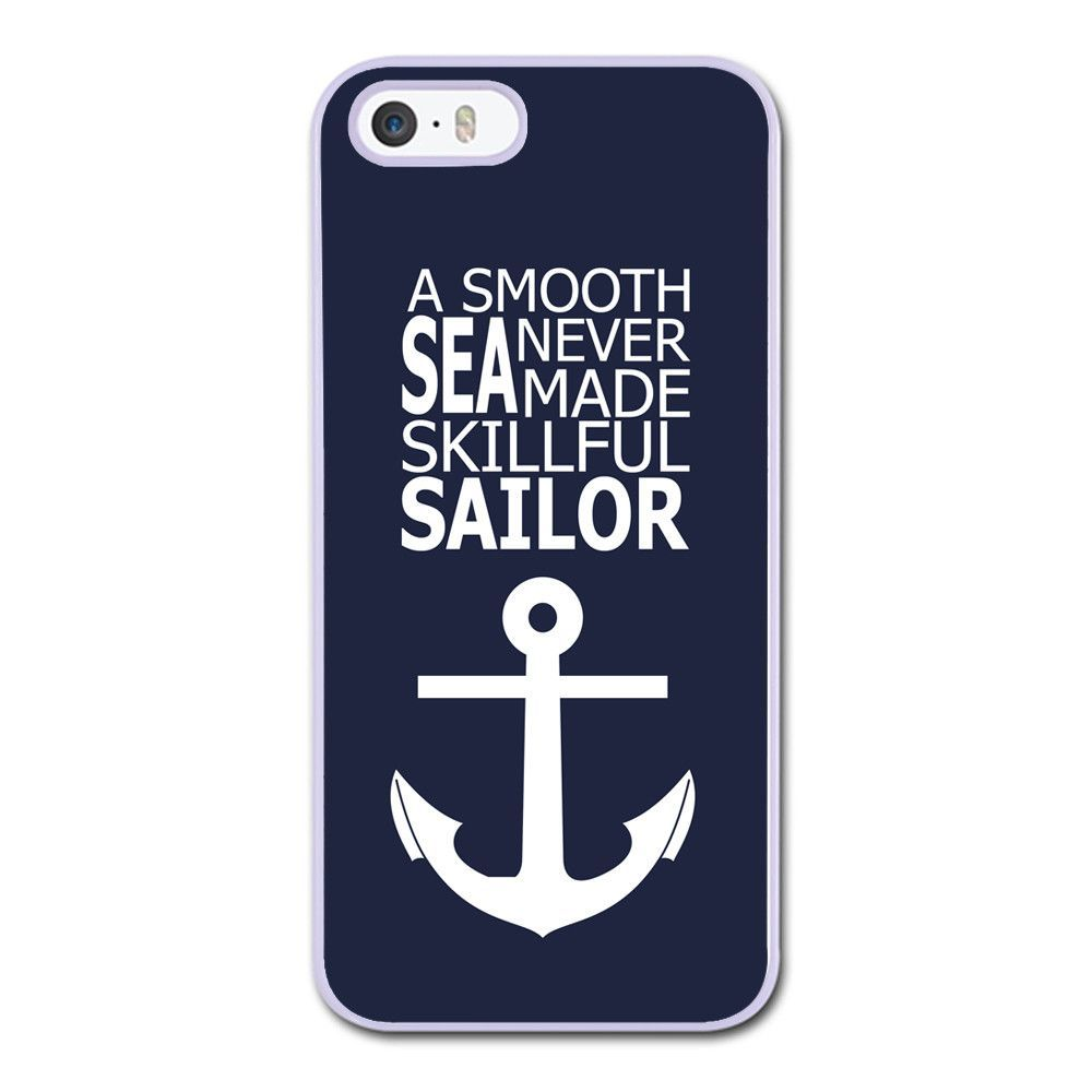 Anchor on Blue Word Quote Phonecase for iPhone 5/5S Case