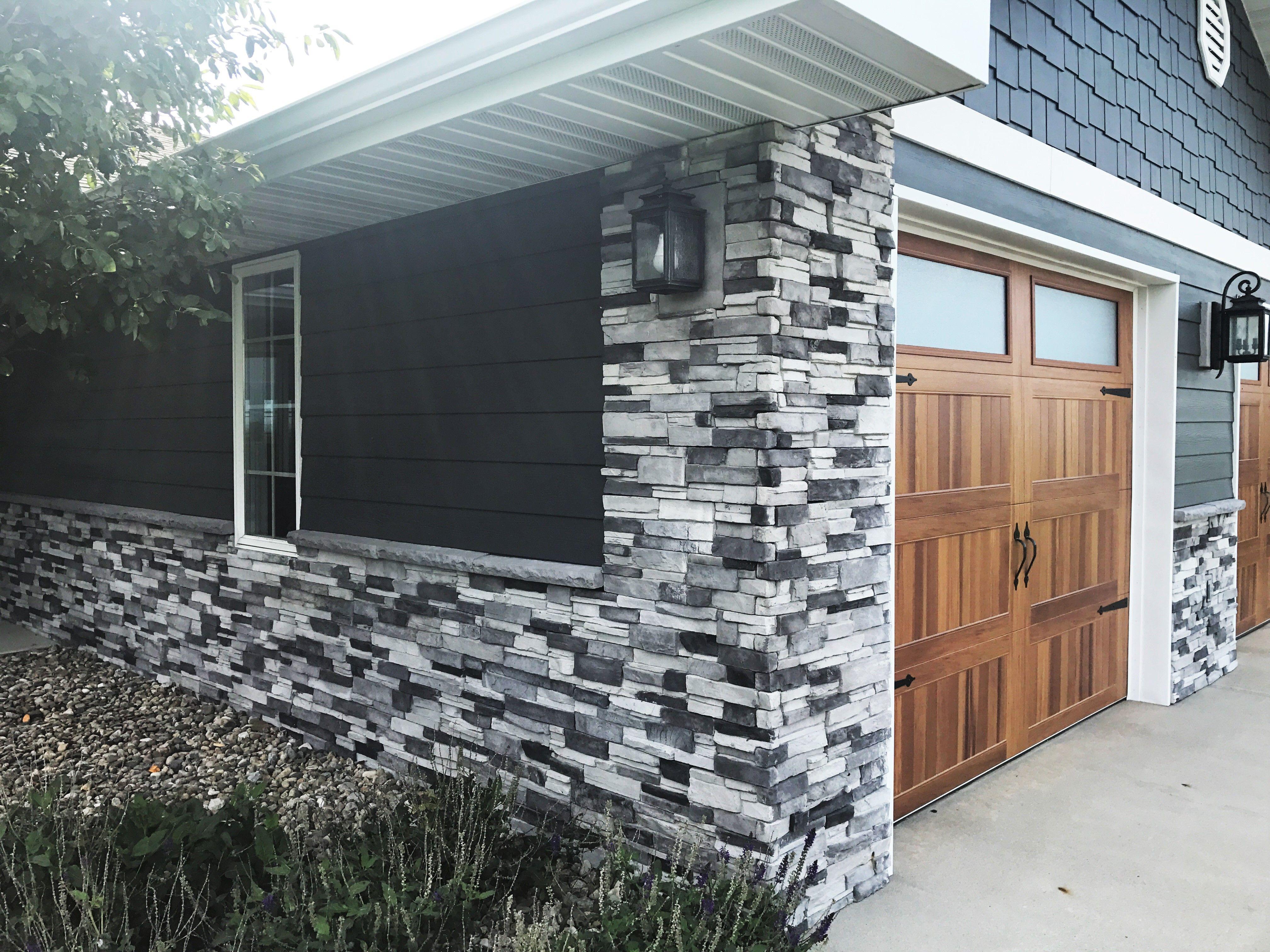 Adorn 23 5 in x 6 in colorado gray stone veneer siding - Exterior stone veneer home depot ...