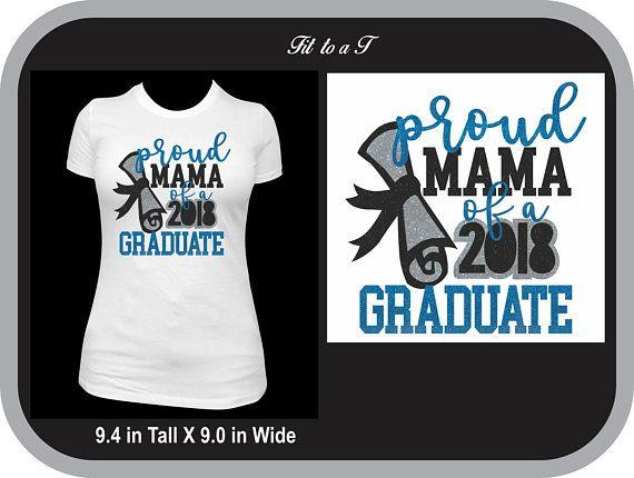 83ca42b7e83 Proud Mama of a Graduate Glitter T-Shirt