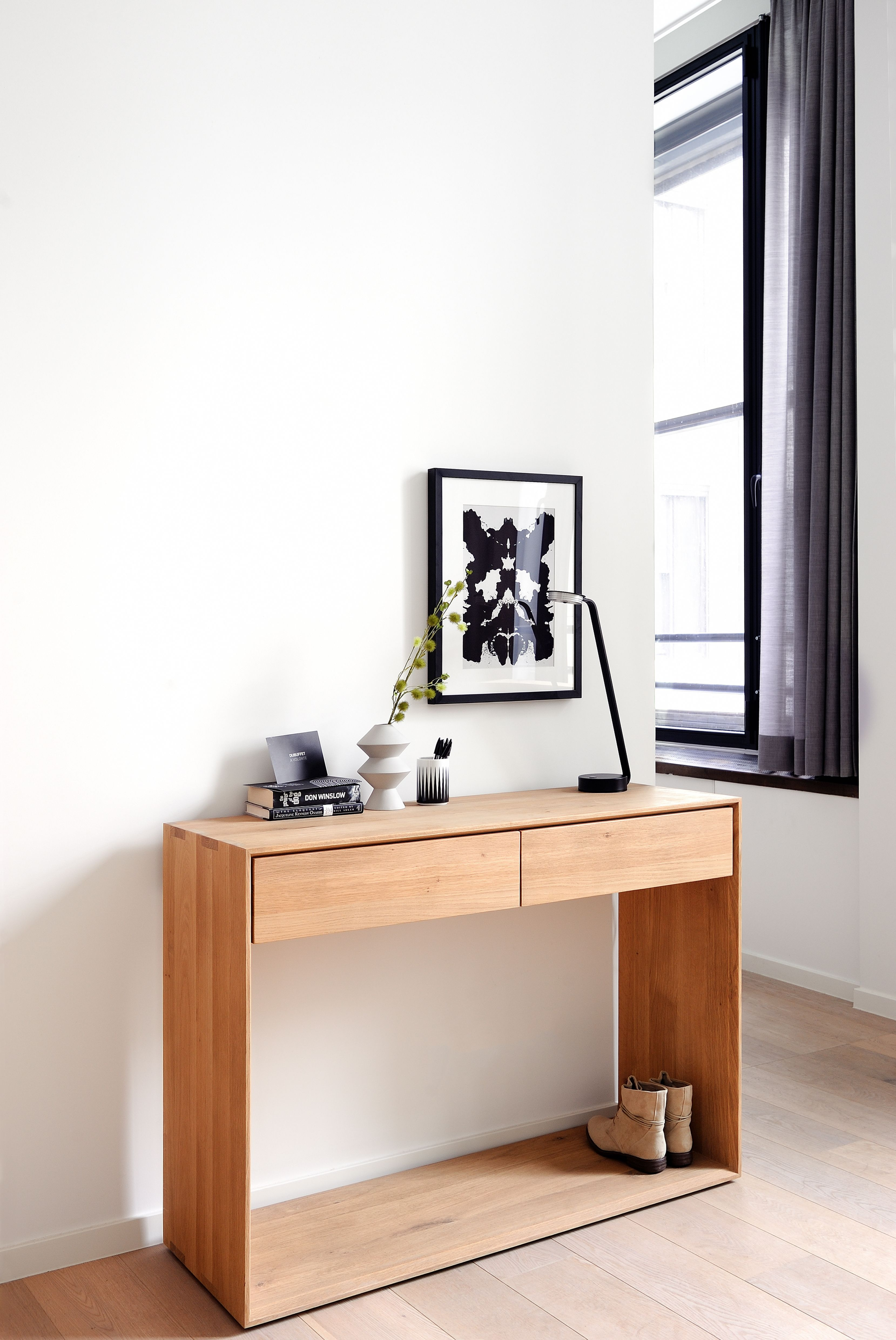 Nordic console desk storage entryway storage and entryway tables minimalist entryway storage console for modern interiors ethnicrafts solid oak nordic console is perfect as geotapseo Images
