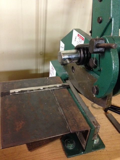 Benchtop Metal Shear Table Sheet Metal Fabrication Raw Steel Metal Working Tools
