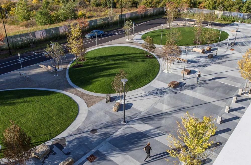 North Point Gateway and Pocket Park by Landworks Studio