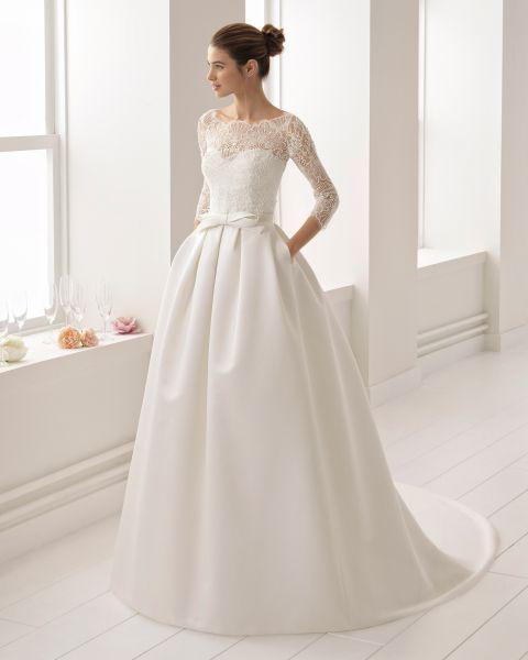 vestidos de novia manga francesa