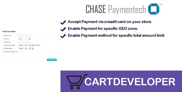 Chase Paymentech Orbital Payment gateway Opencart  Accept your - credit card form