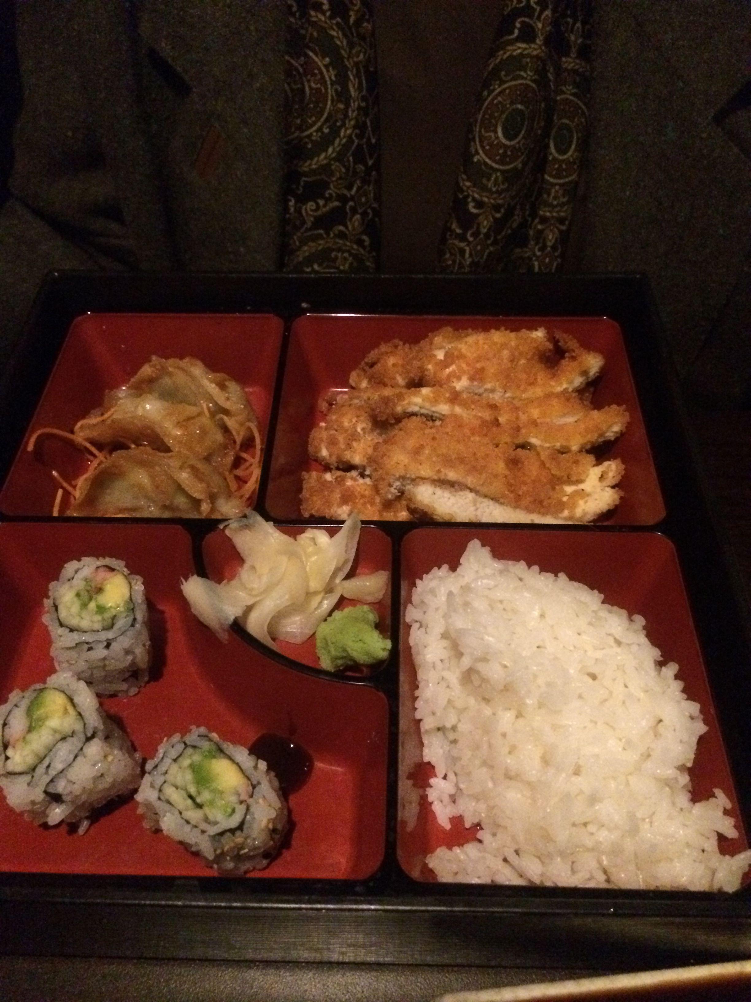 The Chicken Teriyaki Lunch Bento Box at Sakura Sushi & Steak House ...