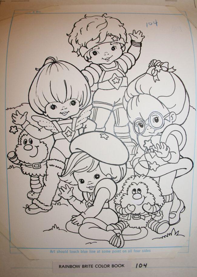 Stem Cels Rainbow Brite Hanken Cute Coloring Pages Coloring Books Rainbow Brite