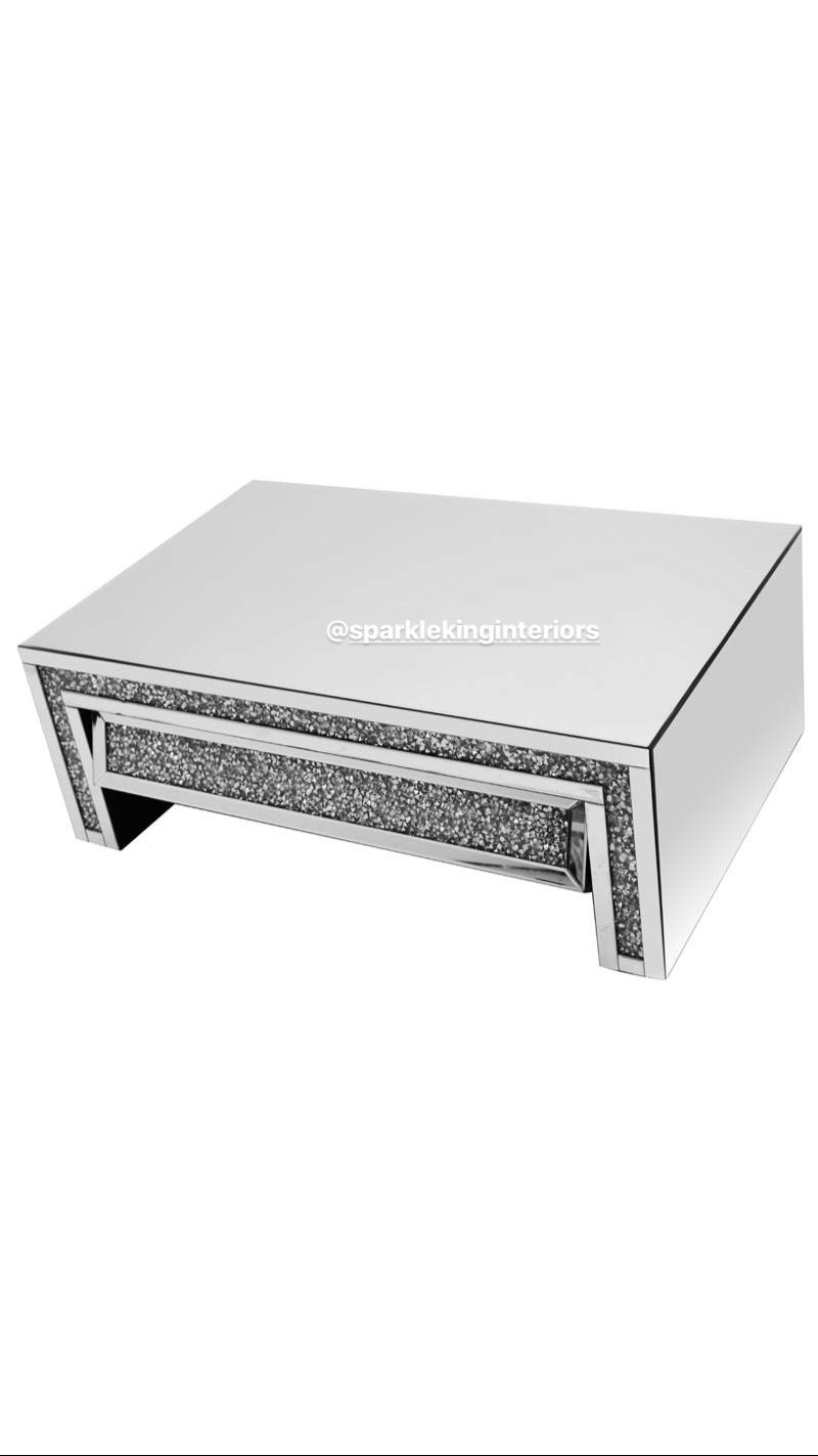 Best Diamond Crushed Mirror Sparkle Glitter Bling Coffee Table 400 x 300