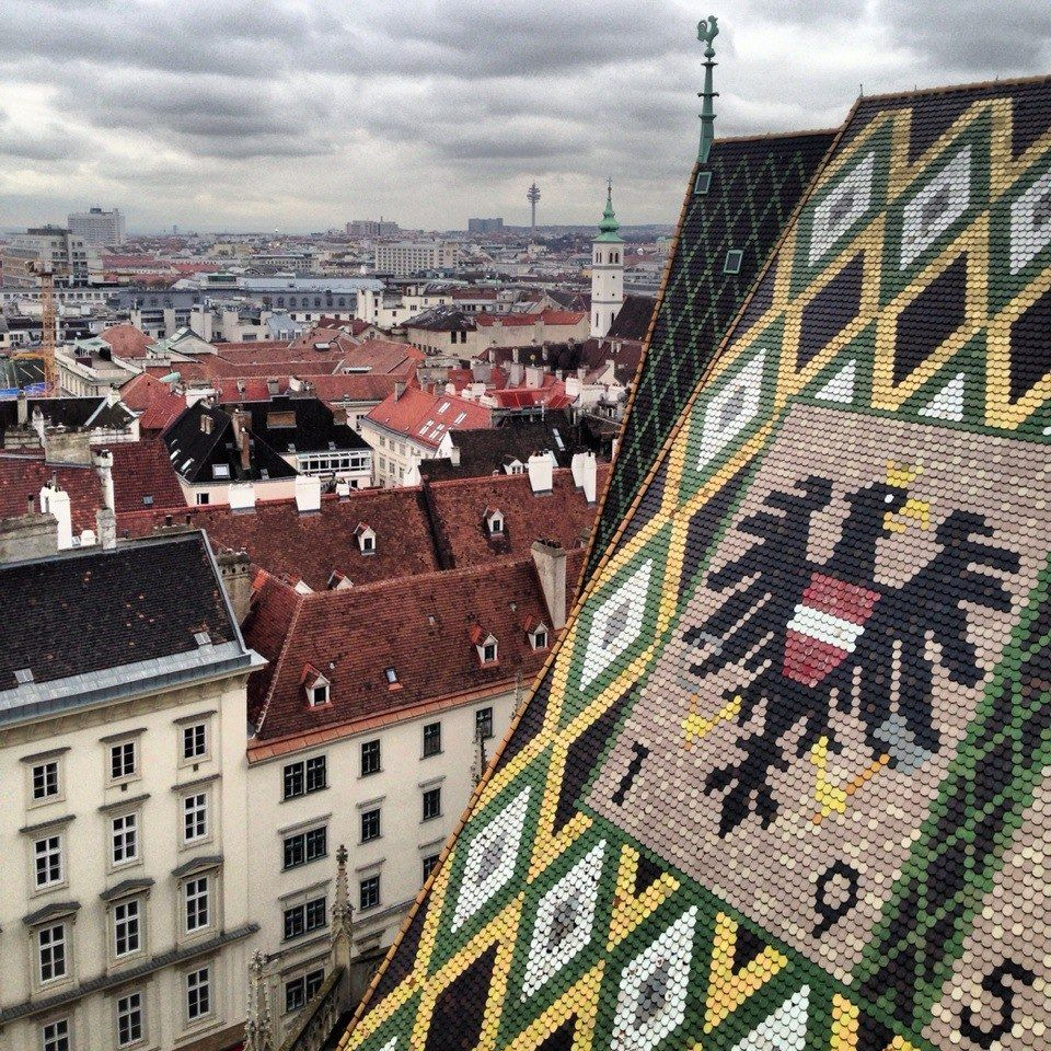 view from stephansdom cathedral // vienna