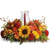 Harvest Hurricane Centerpiece from Wild Orchids florist & Events - Las Vegas