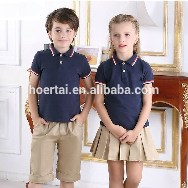 Kids Summer School Uniform School Uniform Design Skirt Photo