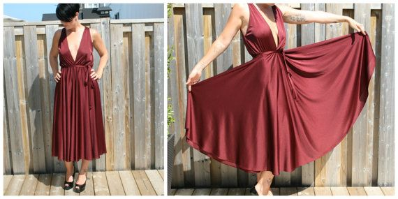 Vintage Grecian Dress - Plunging - Disco - 70s - Marilyn - Massive ...