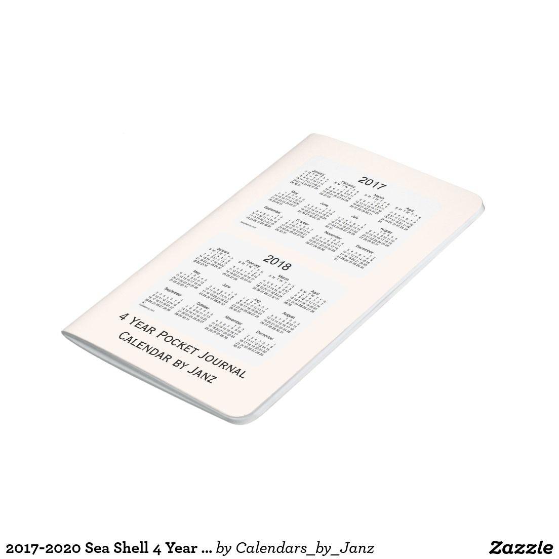 2017-2020 Sea Shell 4 Year Calendar by Janz Journal | Shell