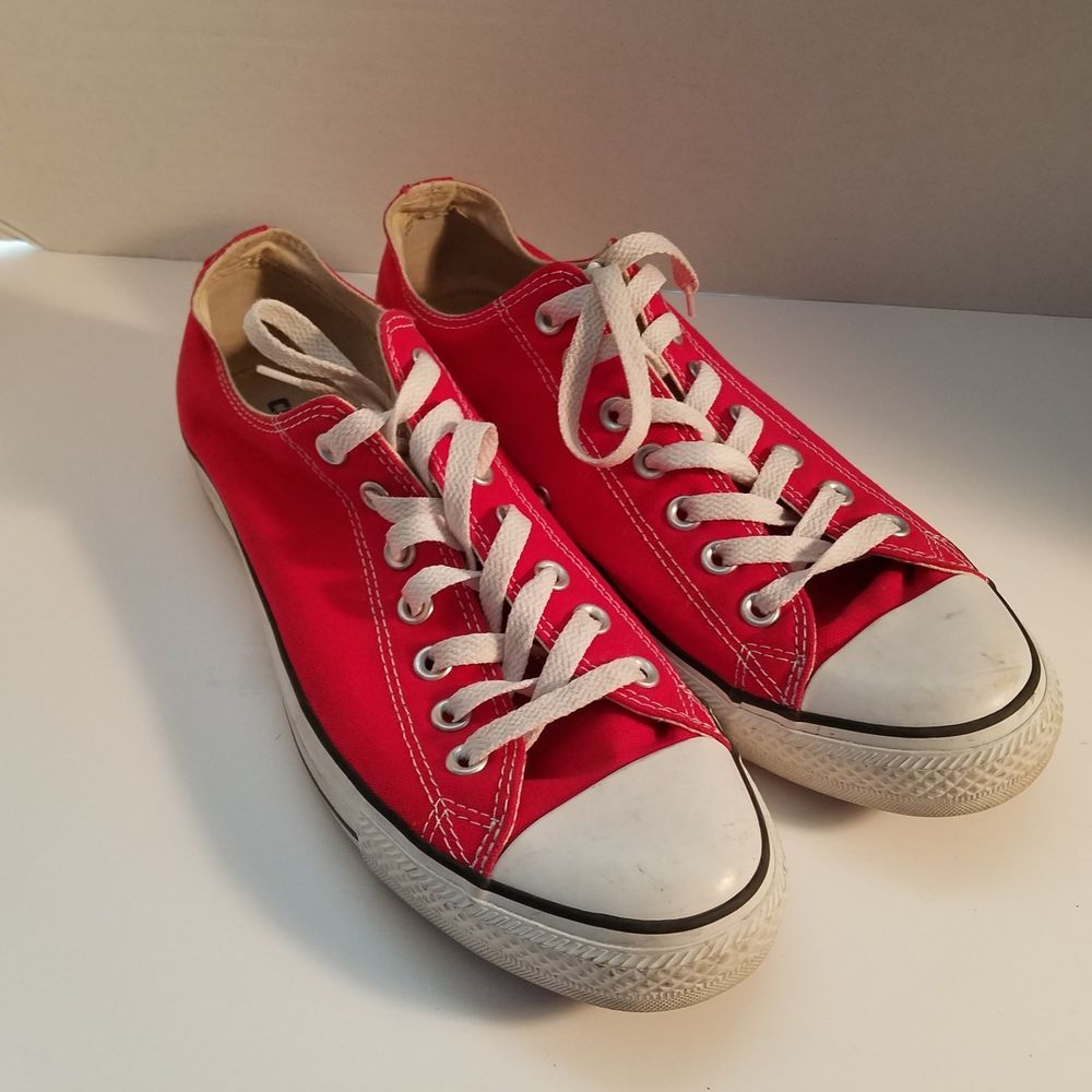 01fbceb5bd5d Converse All Star Red Tennis Shoes Men s Size 10 Women s Size 12  Converse   Athletic