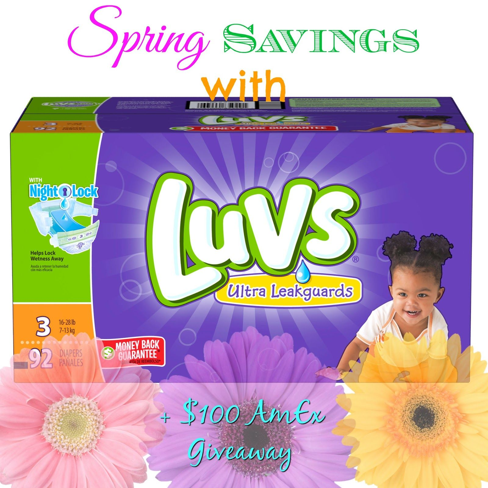 Spring Savings With Luvs 100 Gift Card Giveaway Sharetheluv Gift Card Giveaway Spring Savings Gift Card