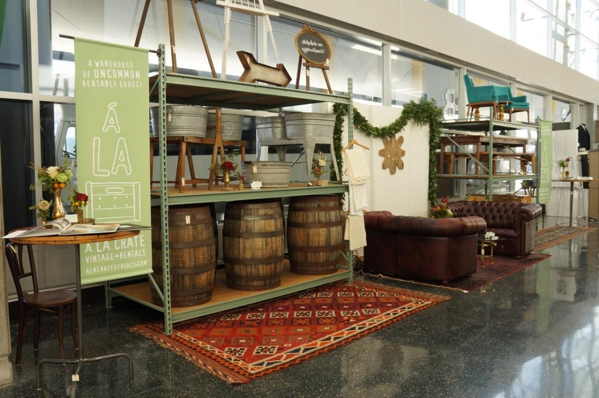 Warehouse Trade Show Booth : A la crate tradeshow booth wedding show design