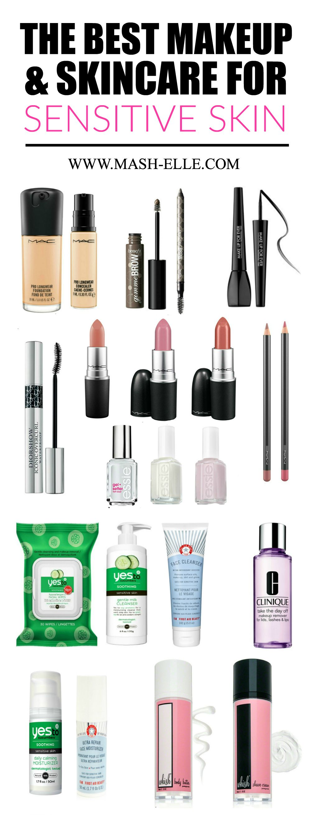 A complete list of the BEST makeup and skincare for