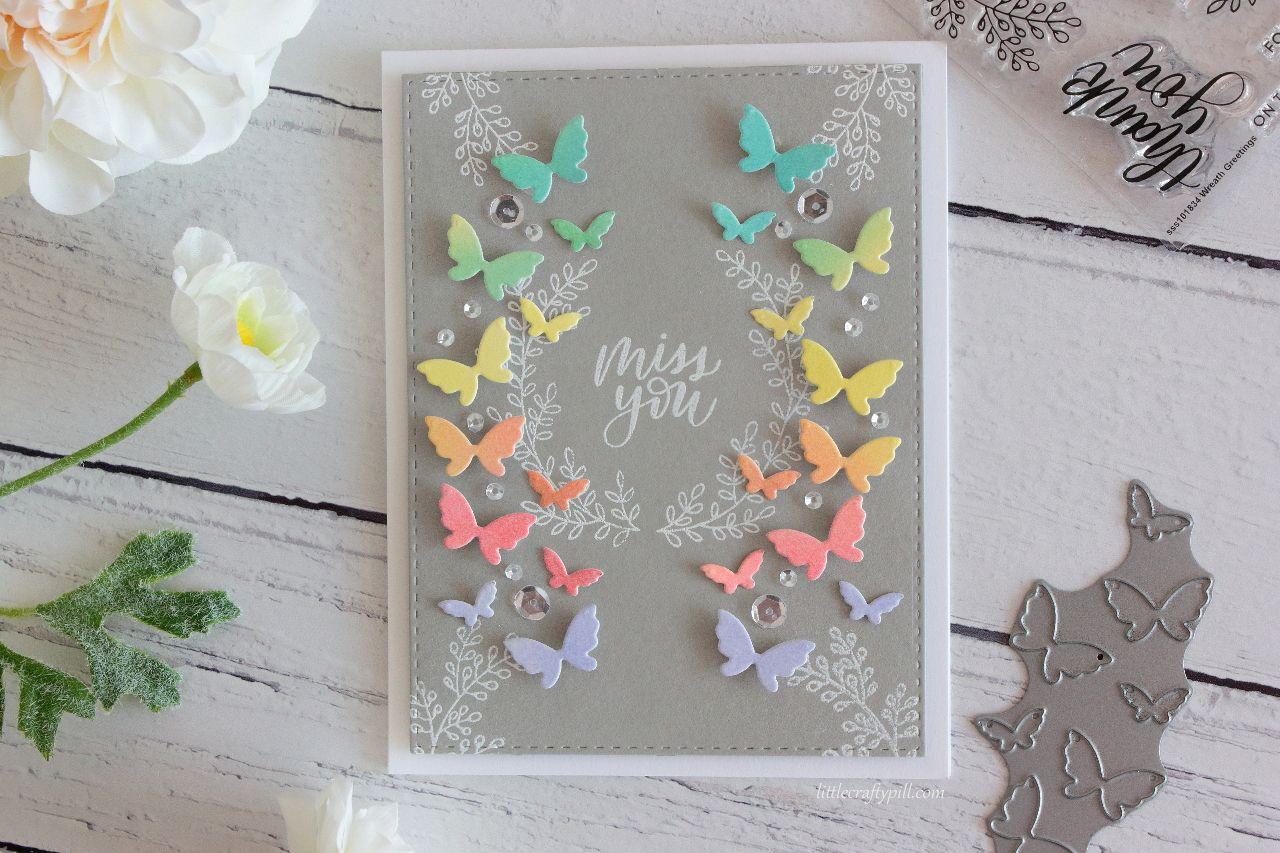 Rainbow butterflies card butterflies u wings pinterest