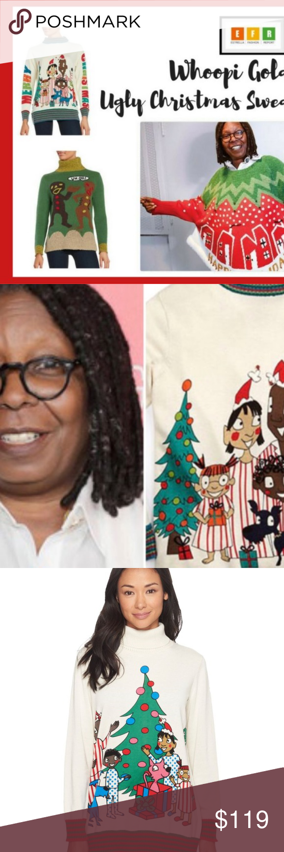 Rare Whoopi Goldberg Elf Ugly Christmas Sweater Nwt In 2018 My