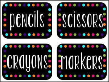 FREE Classroom Decor Labels {Editable} Black and White Options #classroomdecor