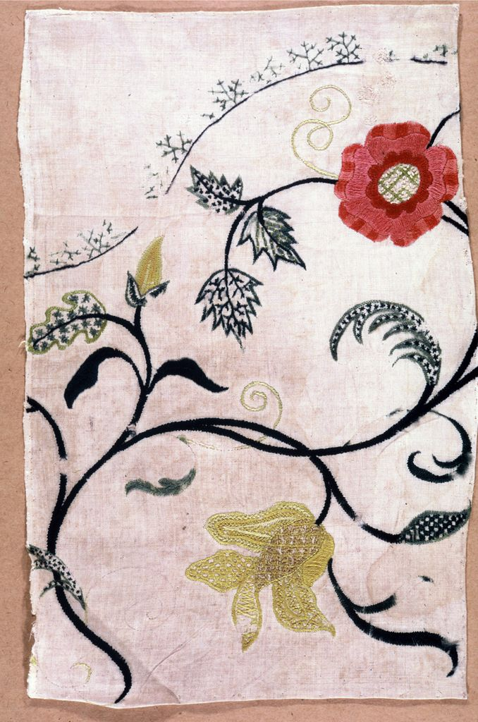 Embroidery: Crewel Wool (France), ca. 1740