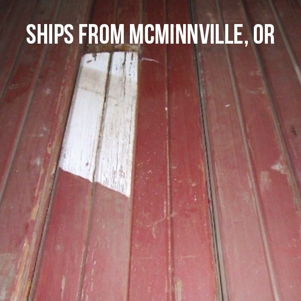 Reclaimed Barn Siding with Red Paint—1,330 sf—Unfinished | Pioneermillworks