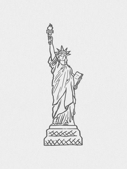 Estatua Da Liberdade New York Usa Desenho Da Estatua Da