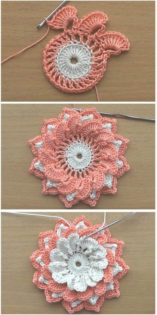 Häkelblumen Tutorial | Deine Häkelarbeit #beautifulflowers #blumen #flowersbouquet #blumenstr... #crochetedflowers