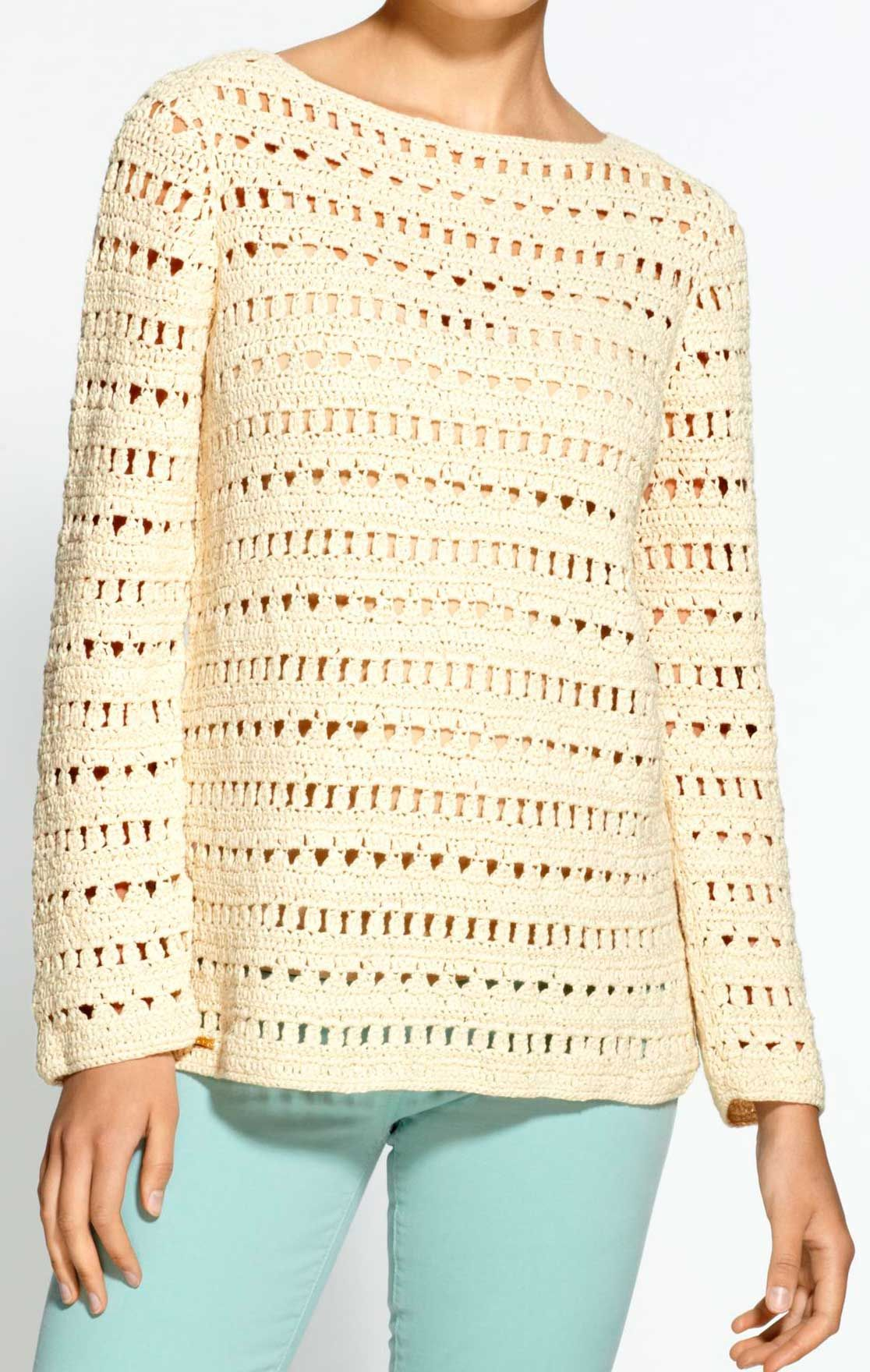 Crochet tunic PATTERN, detailed tutorial for every row + HQ charts, trendy crochet tunic pattern, sweater pattern #crochettunicpattern