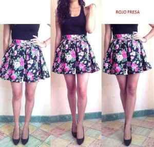 Faldas-azules-floreadas-5 Moda Faldas 3bd3c993125a