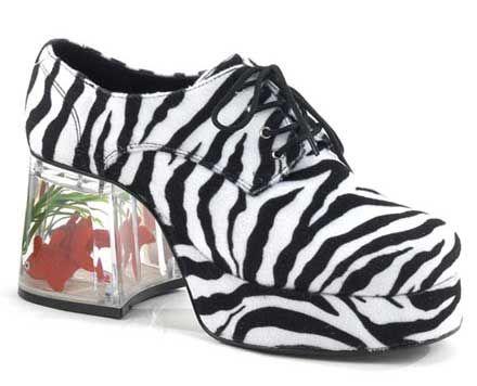PLEASER FUNTASMA Pimp-02 Disco 70s Goldfish Fancy Dress Mens Platform Shoes