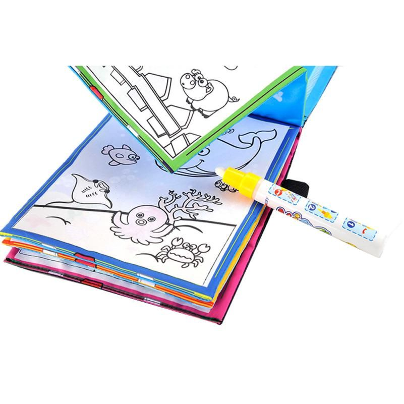 New Magic Kids Water Drawing Book 1 Magic Pen Children Intimate Coloring Book Water Animals Painti Kids Coloring Books Coloring Books Animal Coloring Books